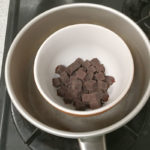 無印良品 バレンタイン手作りキット 自分でつくる ザッハトルテ チョコレートを溶かす