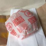 auの三太郎の日(7月13日)でダブルチーズバーガーをもらってきました
