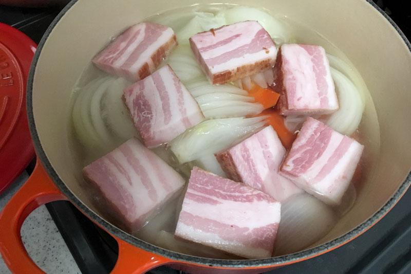 大山ハム 熟成乾塩ベーコン 和風ポトフ