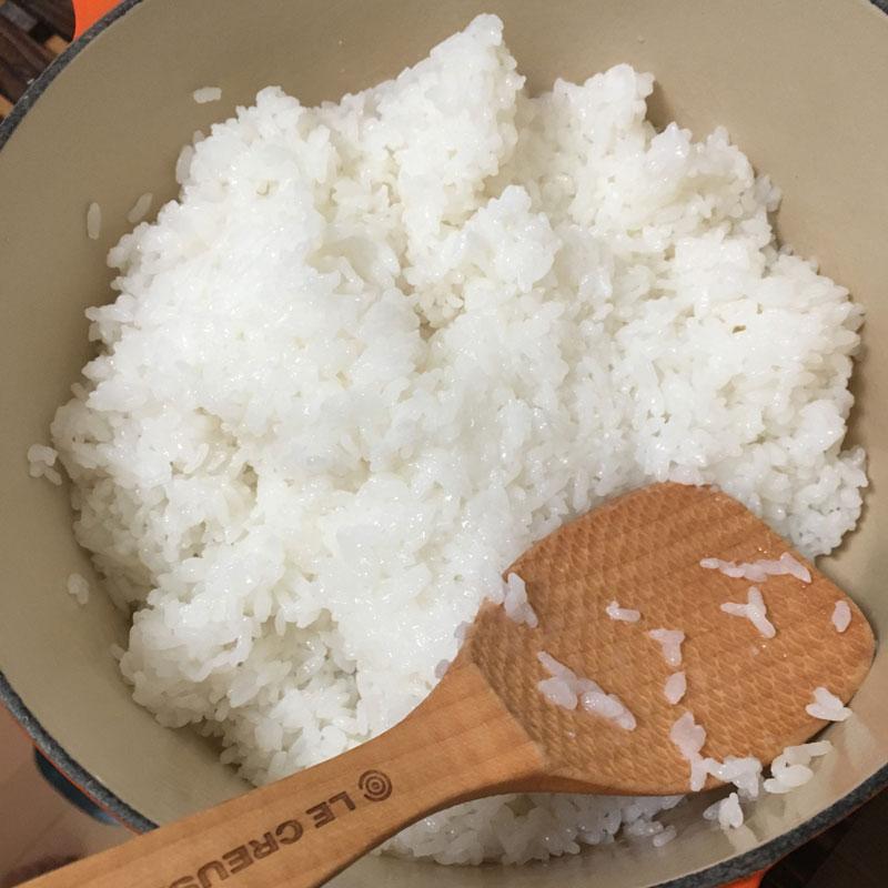 ル・クルーゼ 白米を炊く