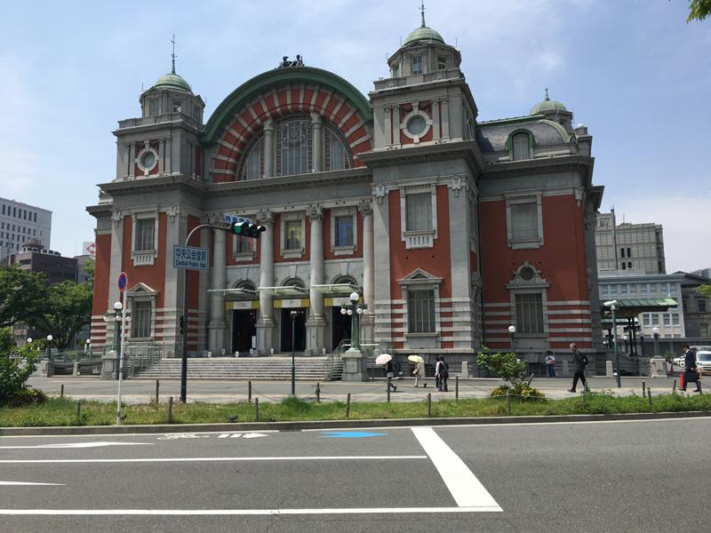 中之島バラ園 中央公会堂前