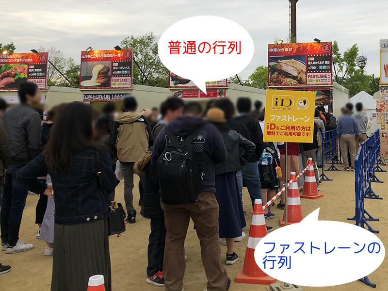 肉フェス OSAKA 2019 長居公園 行列