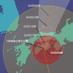 台風12号タラスたん上陸